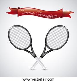 tennis champions over vintage  background vector illustration
