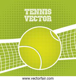 tennis ball design over green background vector illustration