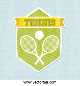tennis icon over blue background vector illustration