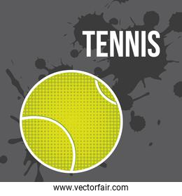 tennis ball over gray background vector illustration