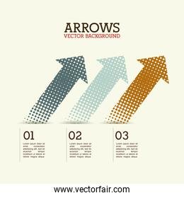 arrows infographics over white background vector illustration
