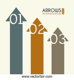 arrows infographics over cream background vector illustration