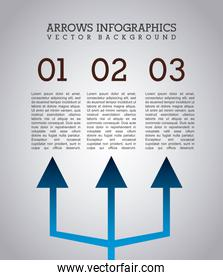 arrows infographics over gray background vector illustration
