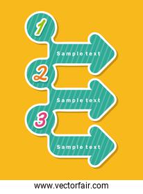 arrows infographics  over yellow background vector illustration