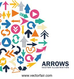 arrows design over white background vector illustration
