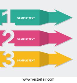 arrows infographics  over blue background vector illustration