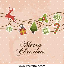 christmas design over pink background vector illustration