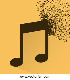 Music elements with flat desiign Vector illustration