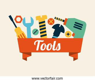 tools design over pink background vector illustration