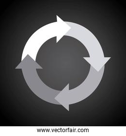 arrows design over gray background vector illustration