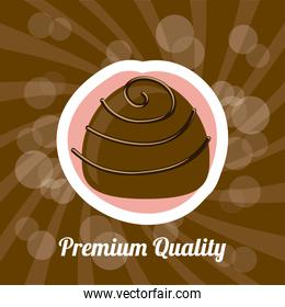 chocolate design over brown background vector illustration