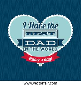 Fathers day design over blue  background vector illustration