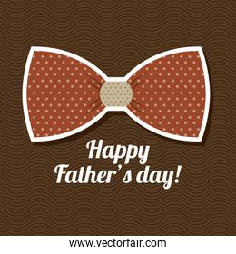 Fathers day design over brown background vector illustration