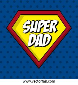 Fathers day design over blue dotted background vector illustrati