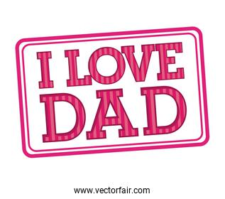 Fathers day design over white background vector illustration
