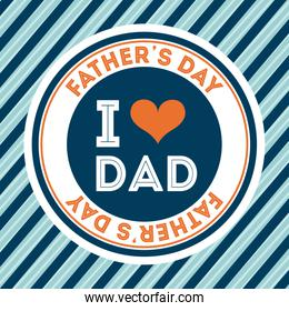 Fathers day design over blue stripes background vector illustrat