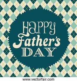 Fathers day card design vector illustration