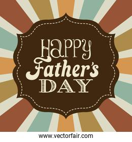Fathers day design over stripes background vector illustration