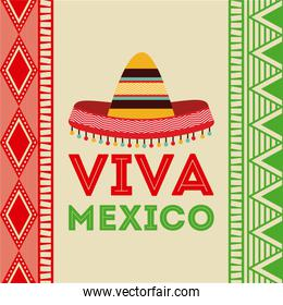 Mexico design over colorful background vector illustration