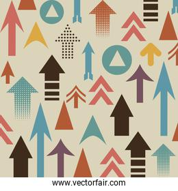 Arrows design over  background vector illustration