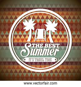 Summer design over abstract background vector illustration