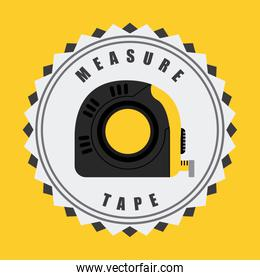 Measure design over yellow background vector illustration