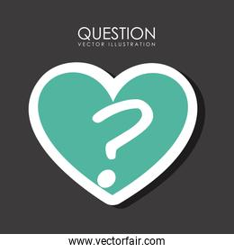 Question design over gray background vector illustration
