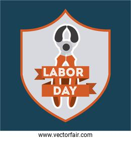 Labor day design over beige background vector illustration