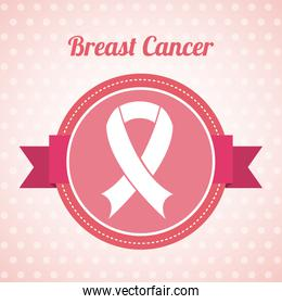 Cancer design over pink background vector illustration