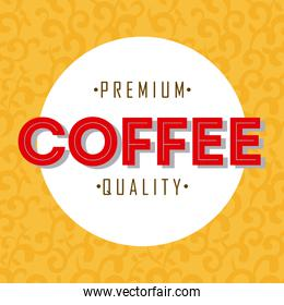 coffee design over yellow background vector illustration