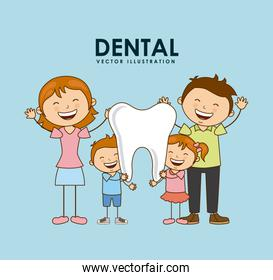 dental design over blue background vector illustration