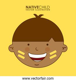 diversity of races over yellow background vector illustration