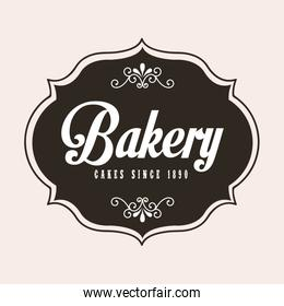 bakery design over white background vector illustration