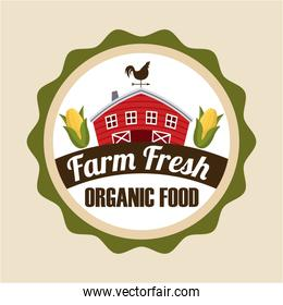 farm fresh design over white background vector illustration