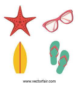 beach icon over white background vector illustration