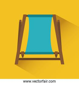 beach icon over yellow background vector illustration