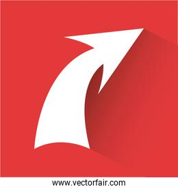arrow graphic design vector illustration