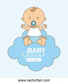 baby shower graphic design vector illustration
