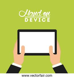 hand on device
