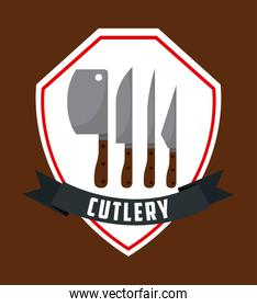 Cutlery tools in shield