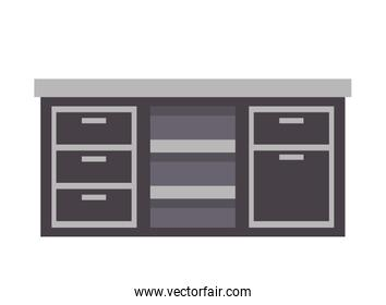 furniture counter drawers cabinet image
