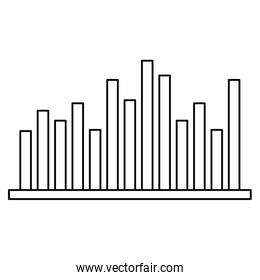 statistics infographic with bars
