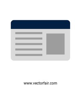 id card isolated icon