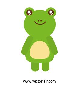 cute toad animal icon