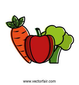 vegetables food healthy lifestyle bell pepper carrot broccoli