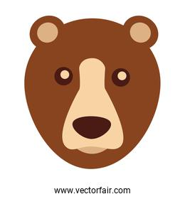 grizzly bear head character