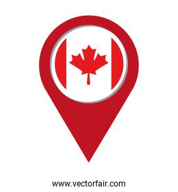 canadian flag in pointer location
