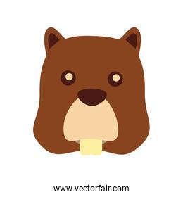 beaver head animal icon