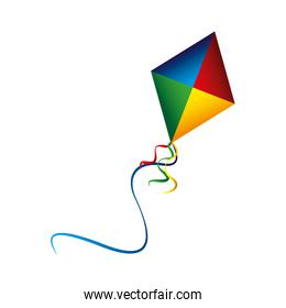 colored kite flying recreation image