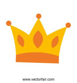 queen crown isolated icon